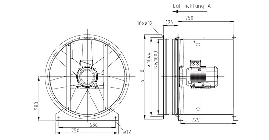Überdruckventilator NG1000