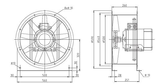 Überdruckventilatoren NG500 9A2