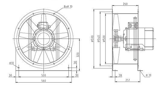 Überdruckventilator NG560 9A2