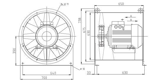 Überdruckventilator NG630 9A2